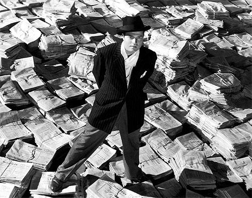 Orson Welles i rollen som Charles Foster Kane i Citizen Kane, 1941