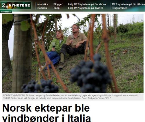 Norske vindbønder i Italia