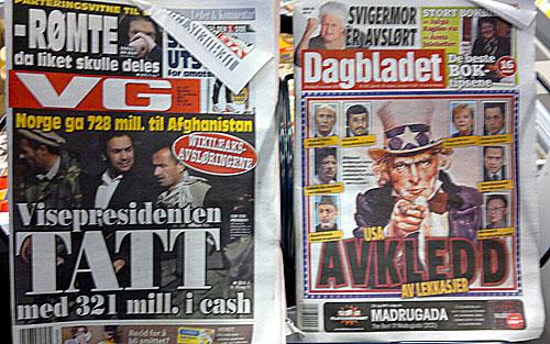 VG og Dagbladet mandag 29. november 2010
