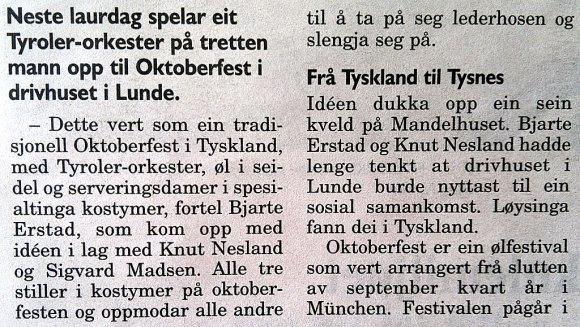 Oktoberfest i Lundegrend