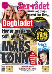 Dagbladet-forside i oktober 2011