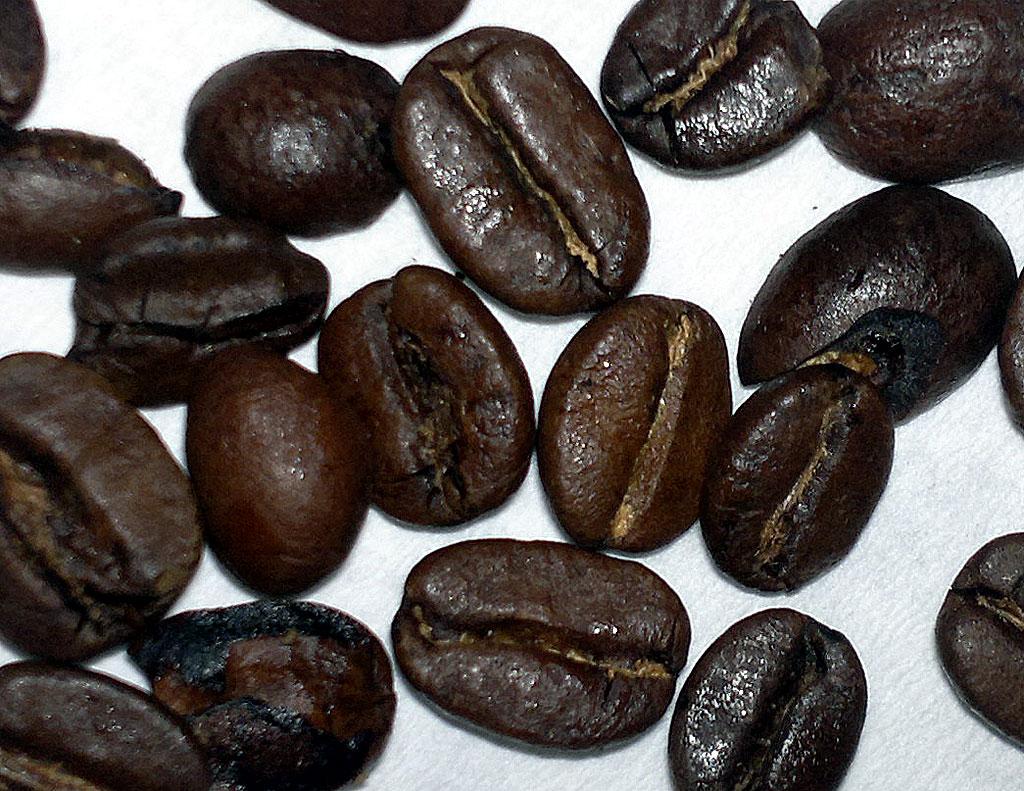 trene seg slank kaffe med bønner