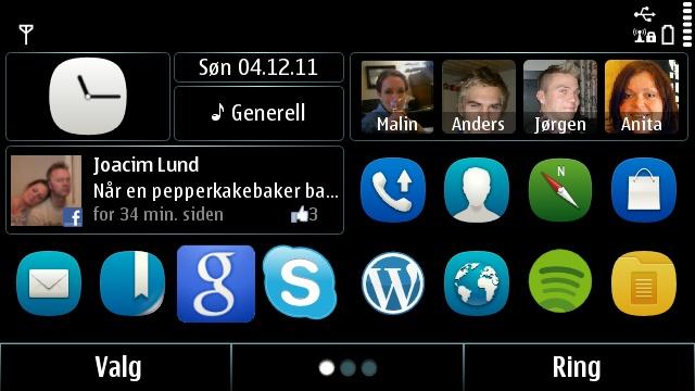 Mobilskjermdump søndag 4. desember 2011