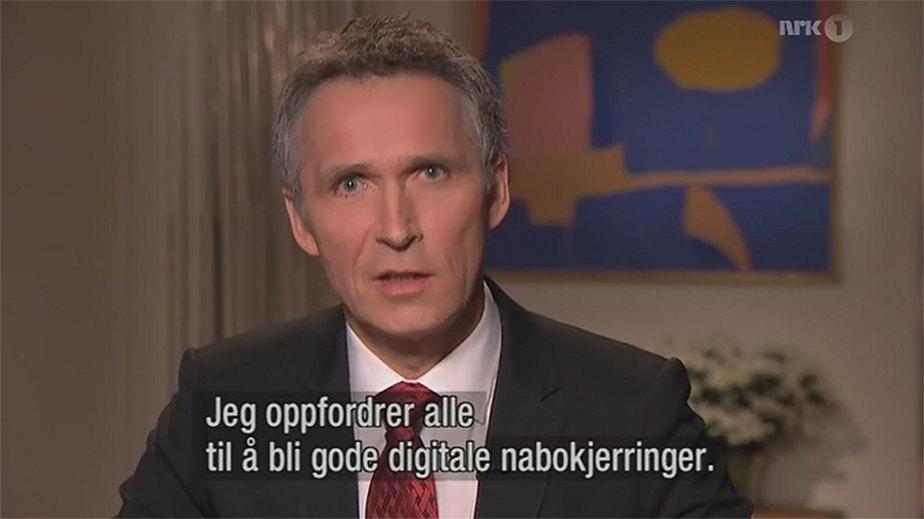 Statsministeren snakker om digitale nabokjerringer i nyttårstalen
