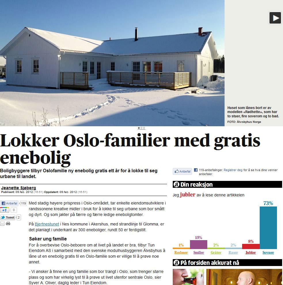 Gratis enebolig i Nes kommune