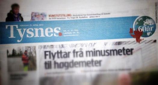 Bladet Tysnes' nye header
