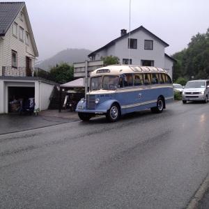 Veteranbuss fra BOB (Bergen-Os Billag) i Våge.