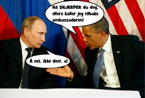 Vestens tilnærming til Putins trussel mot verdensfreden.