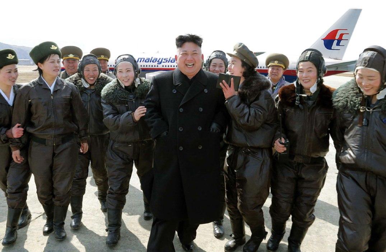Kim Jong-un og Malaysia Airlines