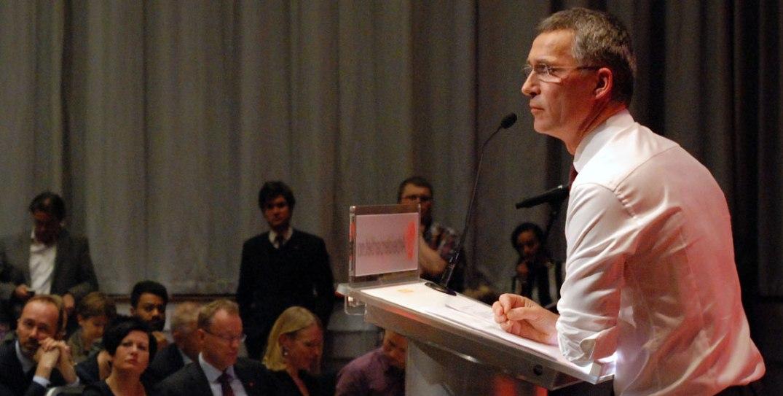 Jens Stoltenberg på Arbeiderpartiets landsstyremøte 25. mars 2014. Foto fra Aps Flickr-konto.