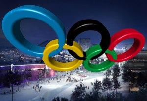 OL-ringer over Oslo. Egen montasje.