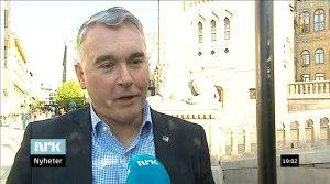 Høyres parlamentariske leder Trond Helleland på Dagsrevyen 29. september 2014.