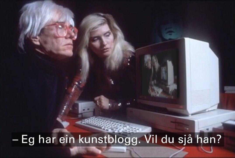 Andy Warhol og Debbie Harry