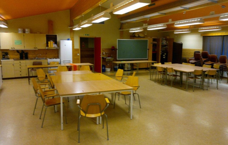 """Storastovo (""""ståvo""""?) ved Lunde skule, da det ennå var skole. Bloggers foto"""