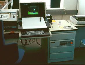 En Genigraphics 100D+-konsoll, identisk med min arbeidsstasjon på 1980-tallet.