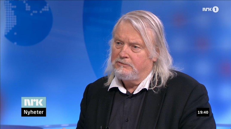 Per Edgar Kokkvold i Søndagsrevyen 15. februar 2014 (skjermbilde).