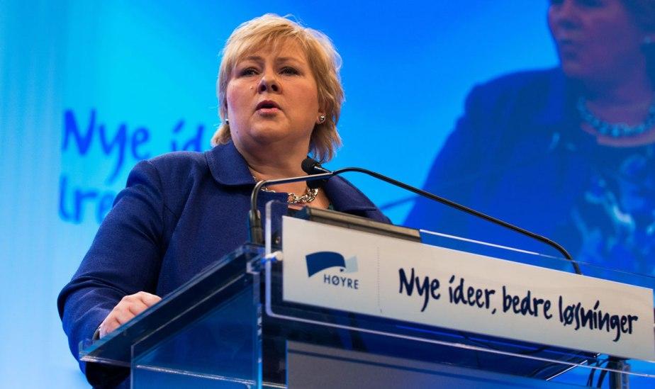 Statsminister Erna Solberg (H). Fotograf: Tomas Moss – www.icu.no