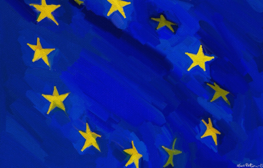 EU flag. Blogger's own painting.