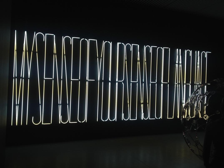 My Sense of Your Sense of Language, Maurizio Nannucci, 1994