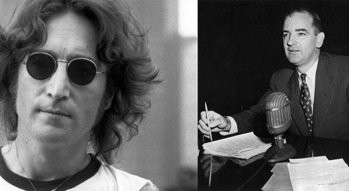 John Lennon og Joseph McCarthy (bloggers montasje).