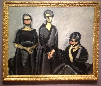 Tre damer i sort, Harald Giersing, 1922 Olje på lerret, 182,2 x 146,4 cm.