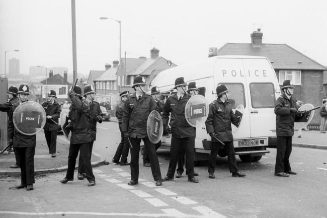 Britisk opprørspoliti på 1970-tallet.