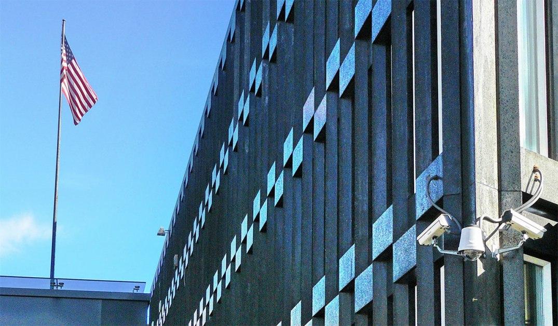 USAs ambassade i Henrik Ibsens gate. Fotograf: Chell Hill/Wikimedia Commons.