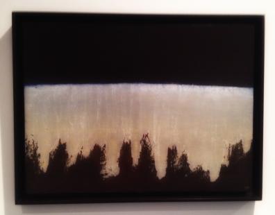 """""""Falaise"""", 1971, Anna-Eva Bergman (1909–1987). Akryl og metallfolie på plate, 73 x 54 centimeter."""