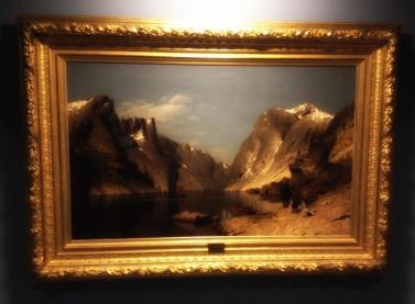 Fra Romsdalsfjorden, 1875, Adelsteen Normann (1848–1918). Olje på lerret.