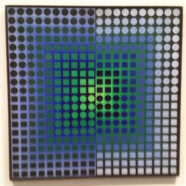"""Zoeld"", 1964, Victor Vasarely (1906–1997). Tempera, 80 x 80 centimeter."