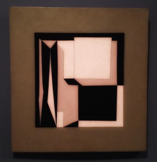 """Akka"", 1964, Victor Vasarely (1906–1997). Olje på tre, 49 x 52 centimeter."