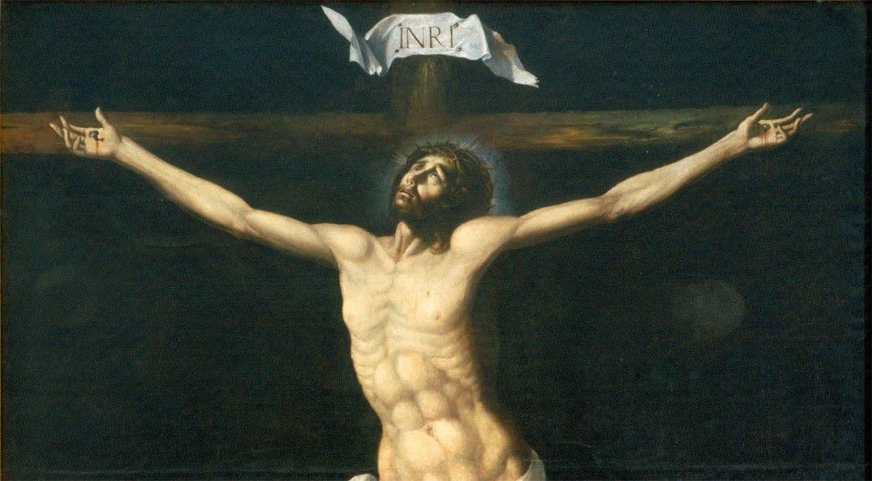 "Sebastián López de Arteagas (1610–1652) ""Cristo en la cruz"", eller ""Kristus på korset"". Bloggers utsnitt av foto fra Wikimedia Commons."
