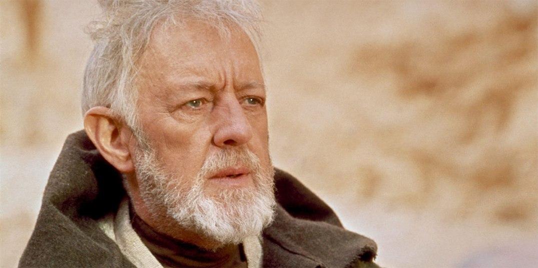 Obi-Wan Kenobi (Alec Guinness) i Star Wars Episode IV, 1977.
