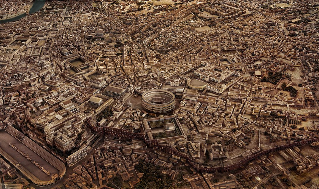 A model of ancient Rome.