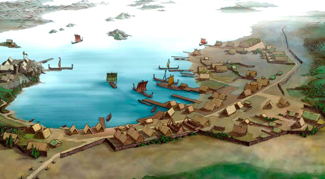 Sikringssal, a Viking age Kaupang (market town), royal seat and power centre, as well as Norway's first torwnship, ca 900th century.