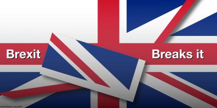 A Brexit Breaks it. Blogger's own illustration.