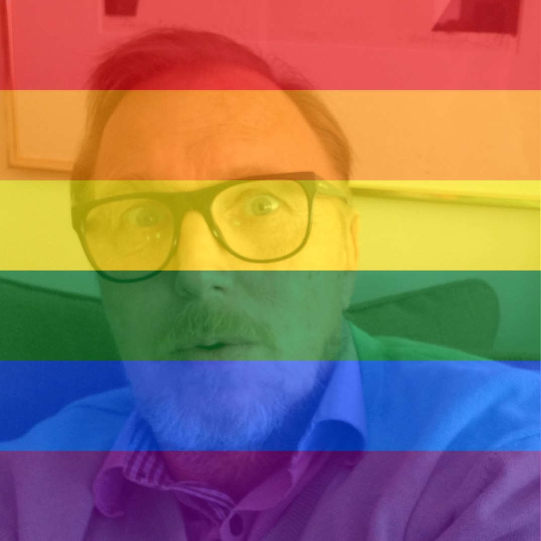 Me and a gay flag