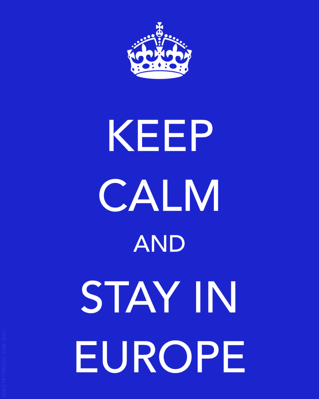 Keep calm and stay in the EU. Blogger's own illustration.