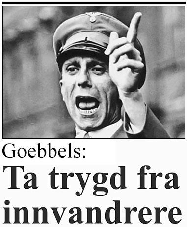 Josef Goebbels = Folk flest™?
