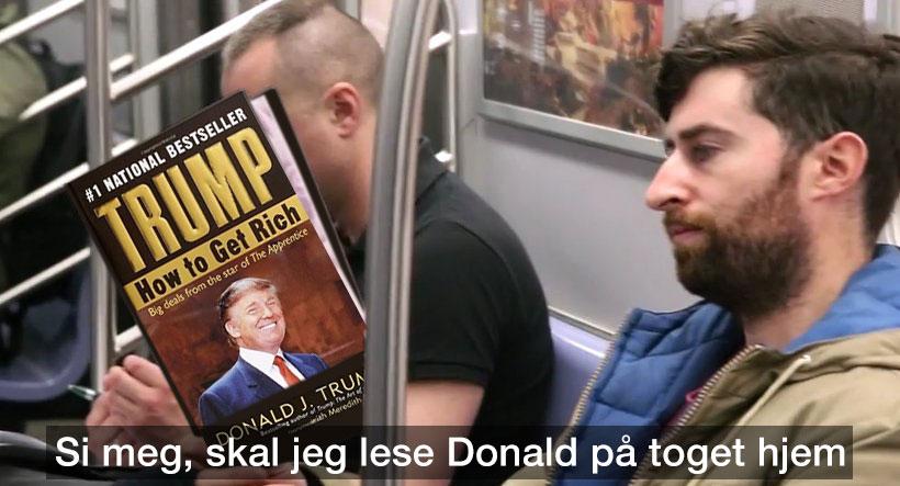 Si meg, skal jeg lese Donald på toget hjem?