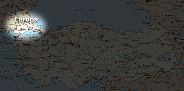 The European part of Turkey. Tyrkia