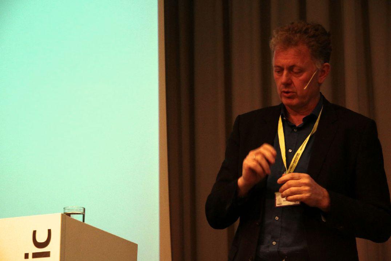 Nettavisens ansvarlige redaktør Gunnar Stavrum under Nordiske Mediedager i Bergen, 12. mai 2016. Fotograf: Freddy Foss/NMD.