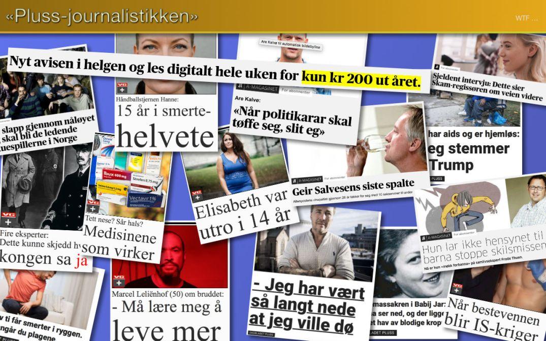 Pluss-journalistikken betalingsmurer journalistikk nettaviser aviser