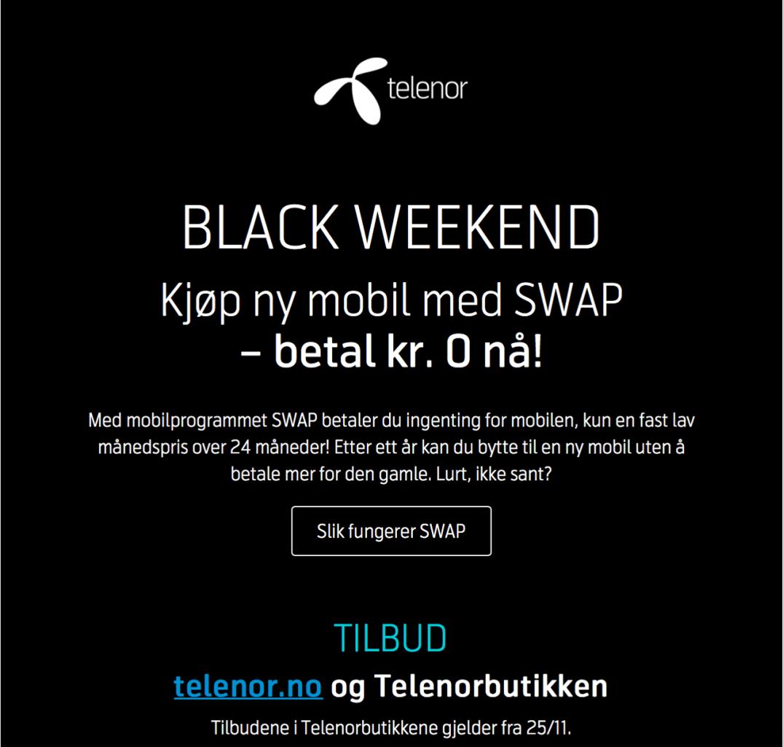 Telenor Black Weekend