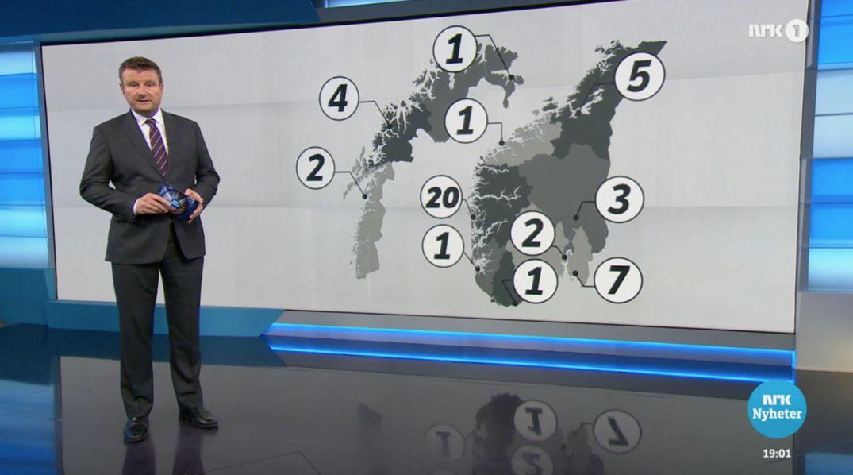 Fra Dagsrevyen-innslag om Operasjon Dark Room. Skjermdump fra NRK.