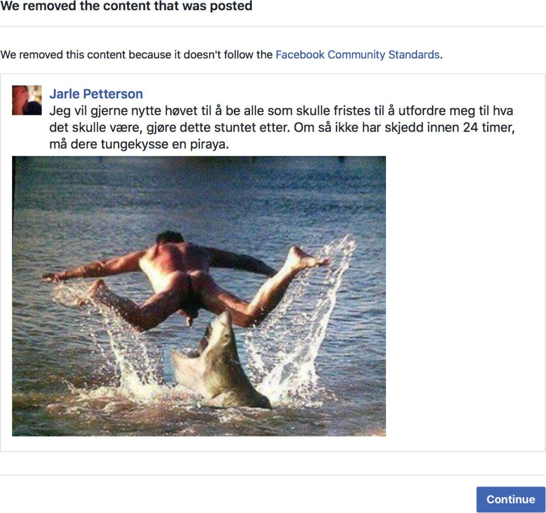 Shark penis Facebook