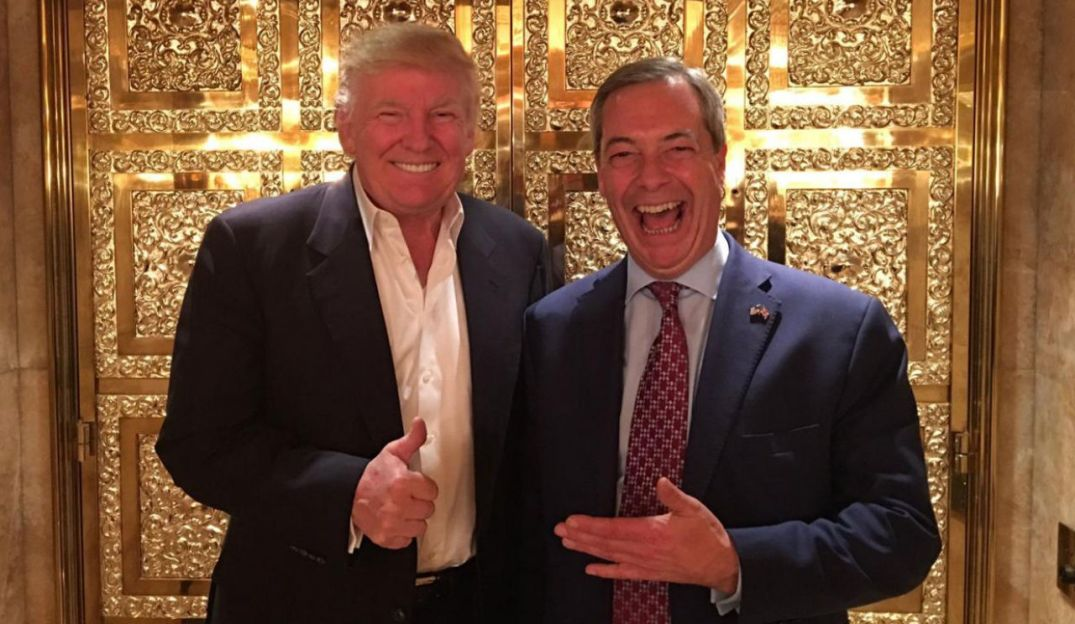 Donald Trump og Nigel Farage (foto fra UKIP).