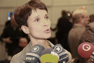 Frauke Petry, chairwoman of Alternative für Deutschland. Photo from Metropolico.org's Flickr account.