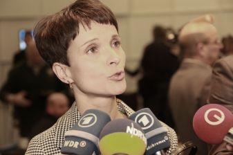 Frauke Petry, chairwoman of Alternative für Deutschland. Photo from Metropolico.org's Flickr account.