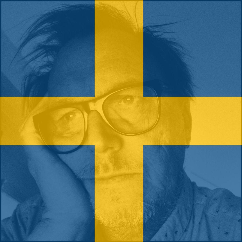 Jarle på et svensk flagg